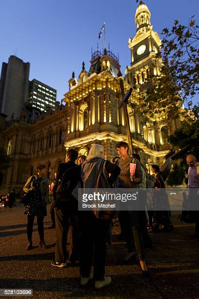 Protestors hold a vigil for Hodan Yasin at Sydney Town Hall on May 4 2016 in Sydney Australia Hodan Yasin a 21yearold Somali refugee is being treated...
