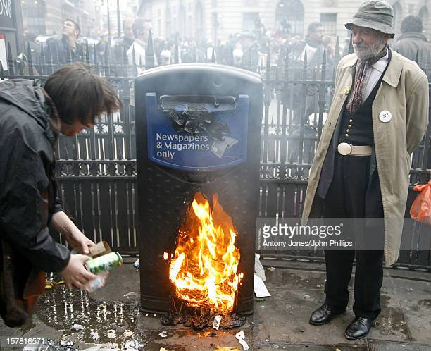 G20 Protestors Outside The Bank Of England In The City Of London