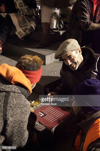 Protestors settling in playing games The London Stock Exchange was attempted occypied in solidarity with Occupy Wall in Street in New York and in...