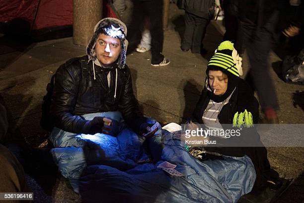 Protestors settling inplaying cardsThe London Stock Exchange was attempted occypied in solidarity with Occupy Wall in Street in New York and in...