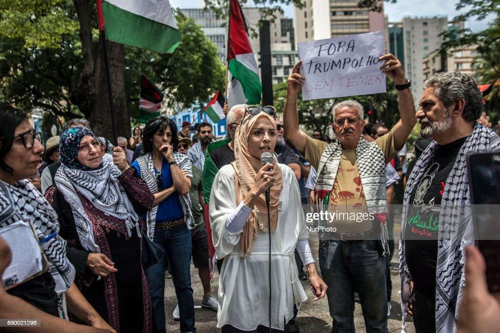 Protest in Brazil against US decision to recognize Jerusalem as Israel's capital
