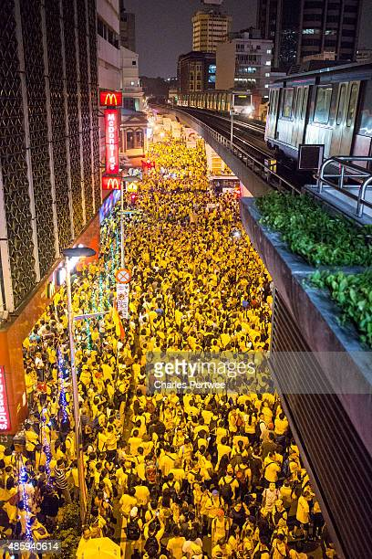Protestors throng the streets around Merdeka Square during the Bersih 40 rally on August 30 2015 in Kuala Lumpur Malaysia Prime Minister Najib...