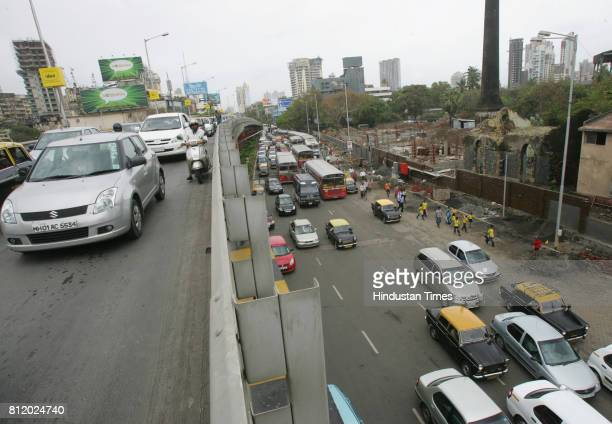 Protests and Demonstrations Mumbai Traffic Jam Traffic Jam at Lovegrover due Rasta Roko by Students of New Era School at Peddar Road in Mumbai on...