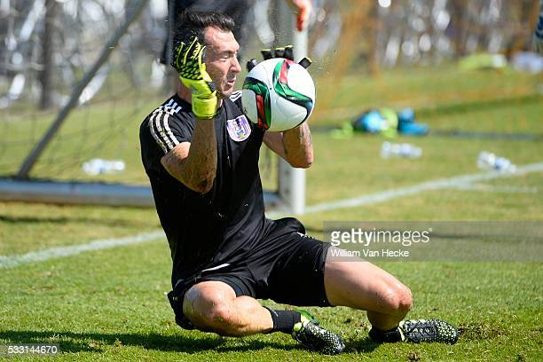Proto Silvio goalkeeper of Rsc Anderlecht pictured during the training session of RSC Anderlecht at the Irene Sportcomplex in Tegelen on juli 10 2015...