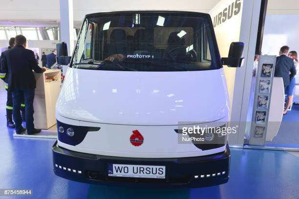 A prototype of URSUS electric bus seen at Congress 590 in the new Exhibition and Congress Centre in RzeszowJasionka CONGRESS 590 is a forum of...