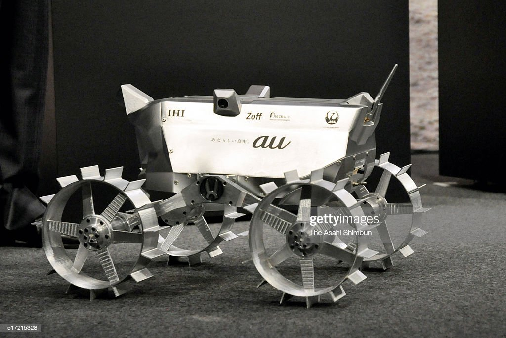 A prototype robot is displayed during a press conference on March 23 2016 in Tokyo Japan KDDI operator of the au mobile phone service announced that...