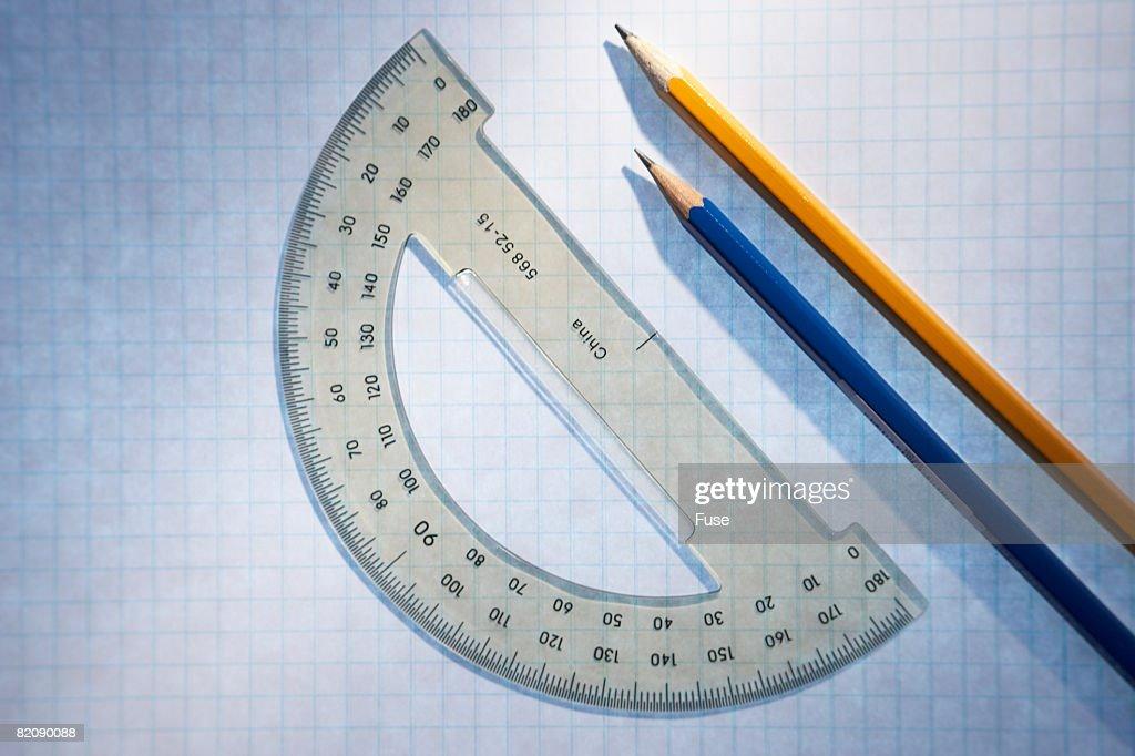 Protractor and Pencil