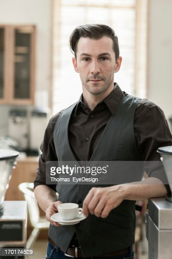 Proud Coffee Shop Owner : Stock Photo
