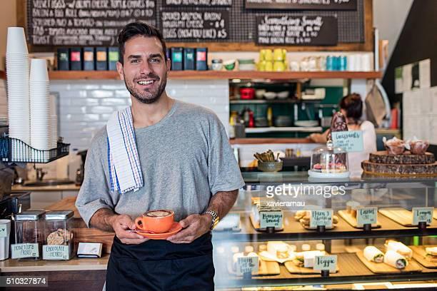 Proud Coffee Shop Owner