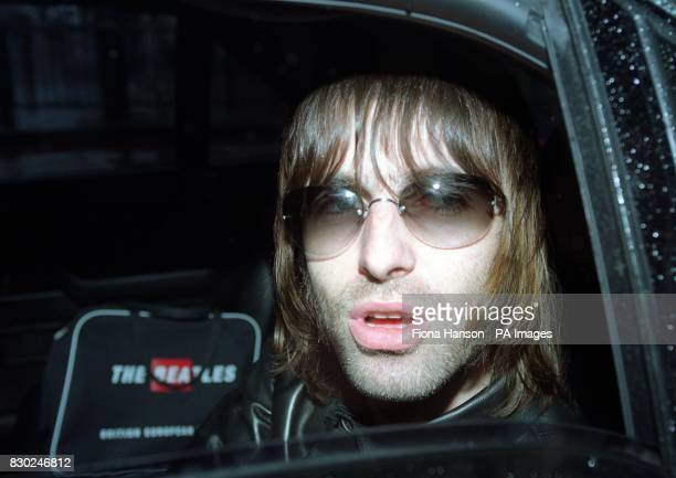 Proud father and Oasis lead singer Liam Gallagher arrives to visit his new son Lennon and wife Patsy Kensit at the private Portland Hospital in...