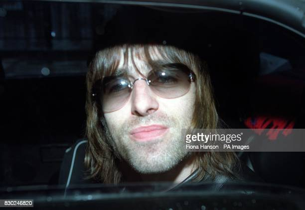 Proud father and Oasis lead singer Liam Gallagher arriving to visit his new son Lennon and wife Patsy Kensit at the private Portland Hospital in...