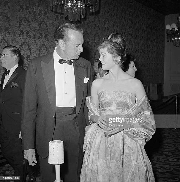 A proud father Gary Cooper talks with his daughter Maria during the party Cooper was cited by the Friars for his patriotic and philanthropic...