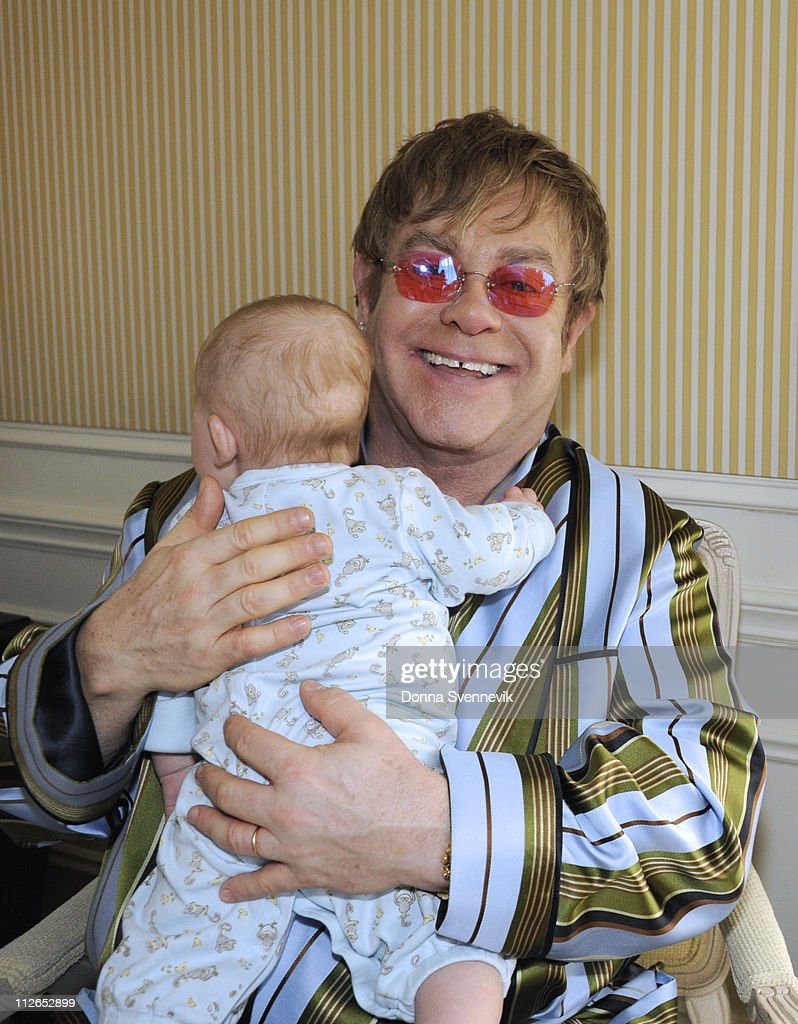 20/20 - Proud fathers Sir Elton John and his partner David Furnish talk exclusively to Barbara Walters in their first major U.S. television interview since son Zachary was born, on '20/20,' airing FRIDAY, APRIL 22 (10-11 pm, ET) on the ABC Television Network. (Photo by Donna Svennevik/ABC via Getty Images)BABY