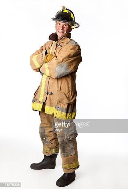 誇る消防士