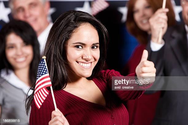 Stolze hispanische USA. Bürger