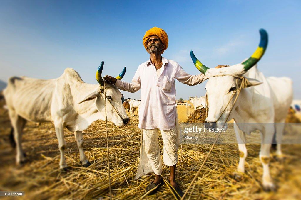 Proud Indian Farmer Portrait : Stock Photo