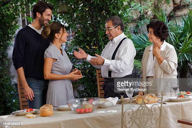 Proud Italian son introduces his fiance  parents