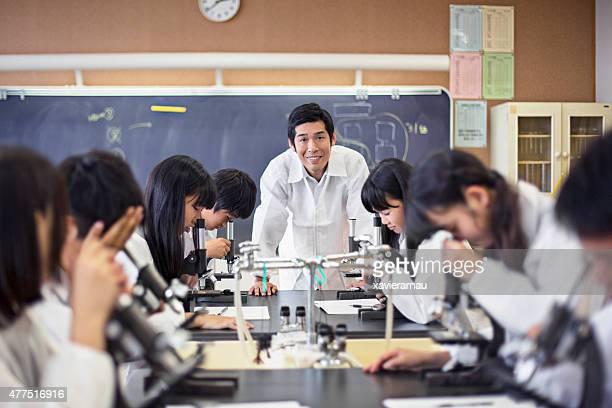 Proud japanese teacher