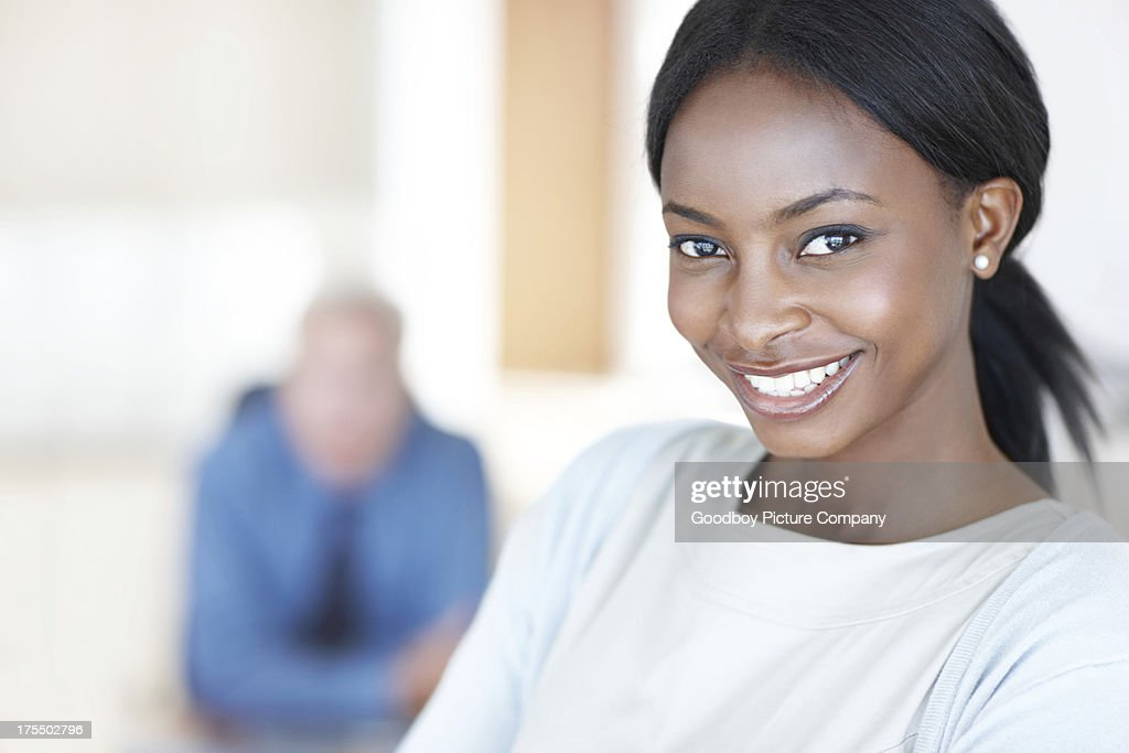 Proud of her career so far : Stock Photo