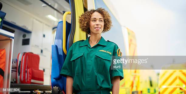 proud paramedic portrait