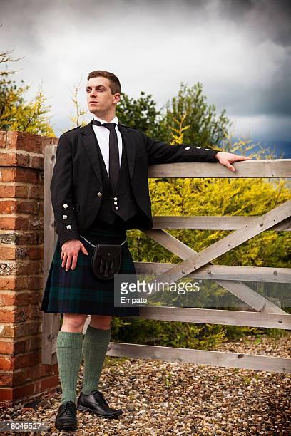 Fier Scotsman en plein air.