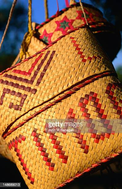 A proudly Timorese weaved basket.