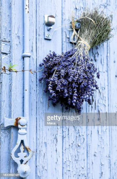 Provence door, lavander bouquet