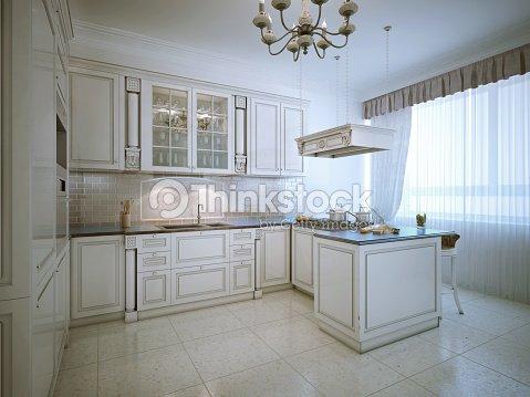 Provence interior of luxury kitchen stock photo thinkstock for Provence kitchen design