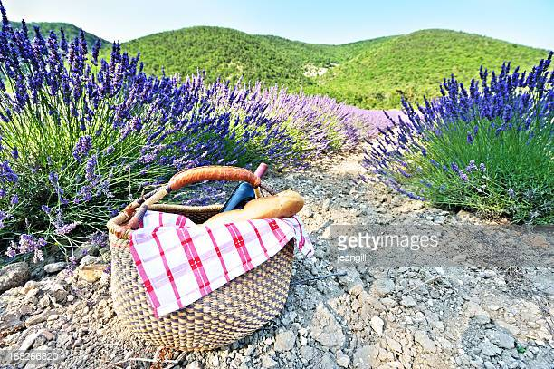 Provence lavender and picnic