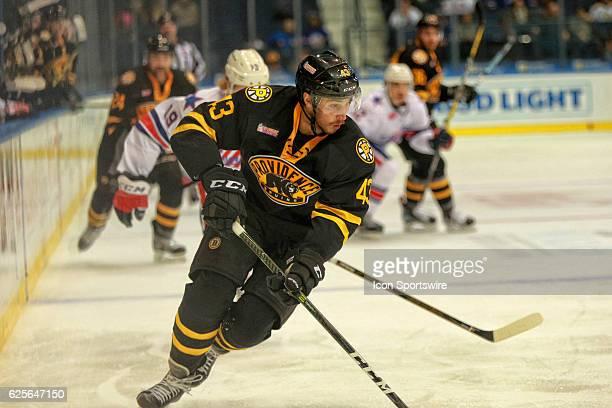 Providence Bruins defenseman Matt Bartkowski skates during an AHL Hockey game between the Providence Bruins and the Rochester Americans on November...