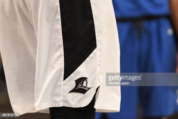 Providence Friars logo on a pair of shorts during the Big East Basketball Tournament Quarterfinal game against the Creighton Bluejays at Madison...