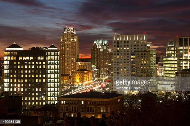 Providence (RI) night view