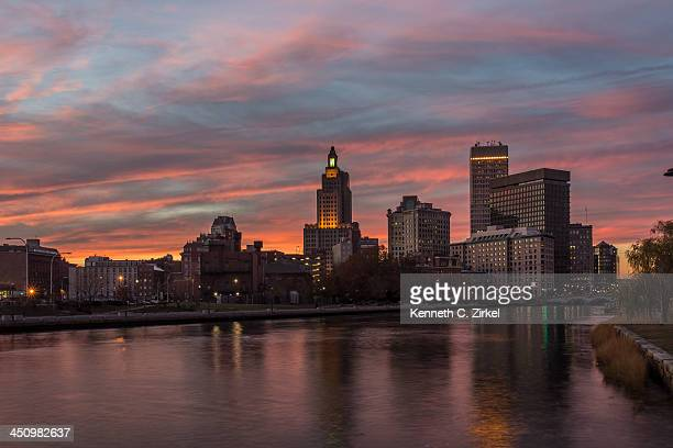 Providence, Rhode Island sunset