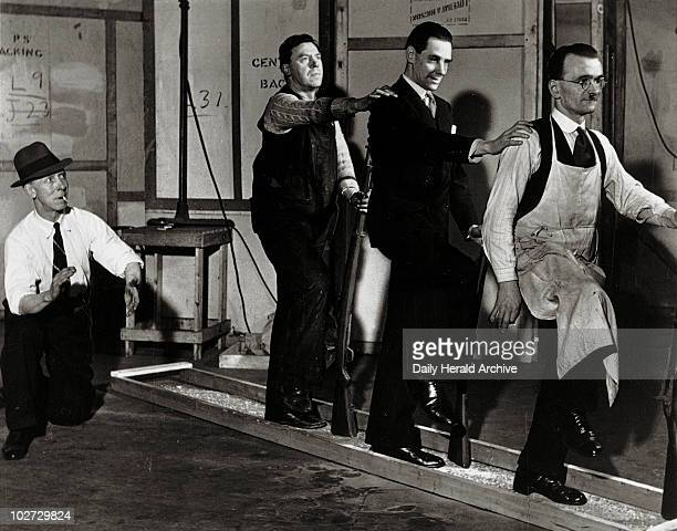 Providing sound effects for the theatre 23 February 1940 'Provided that they stamp loudly enough even three men can produce the impression of quite a...