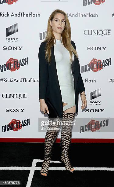 Prsonality Carmen Carrera attends the 'Ricki And The Flash' New York premiere at AMC Lincoln Square Theater on August 3 2015 in New York City