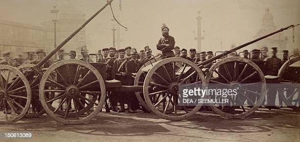Prussian artillery on the Place de la Concorde in Paris March 1 1871 FrancoPrussian War France 19th century