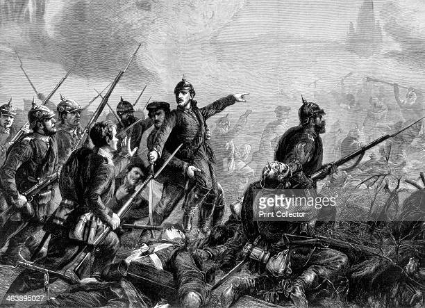 Prussian infantry at the charge FrancoPrussian War 1870 From The Graphic