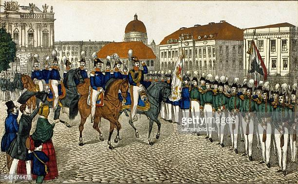 Prussian Kings and History Frederick William IV *1510179502011861 King of Prussia 18401861 Frederick William IV taking the salute of the Citizens...