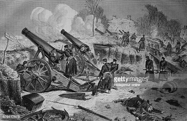 Prussian siege battery outside paris illustrated war history german french war 18701871