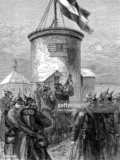 Prussian troops hoisting their flag at Valerien FrancoPrussian War 18701871 This possibly relates to the fort of MontValerien on the western...