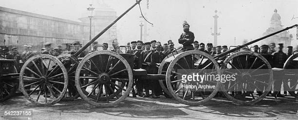 Prussian troops with artillery limbers on the Place de Concorde after the occupation of Paris during the FrancoPrussian War on 17 February 1871 at...