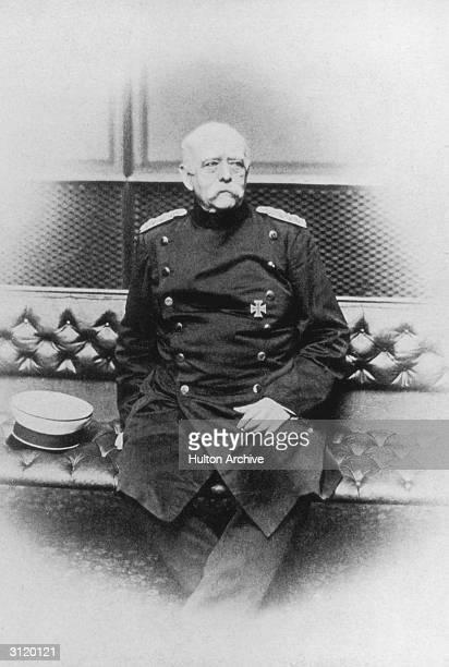 PrussoGerman Statesman Otto Edward Leopold von BismarckSchonhausen circa 1895 He became known as 'the Iron Chancellor'