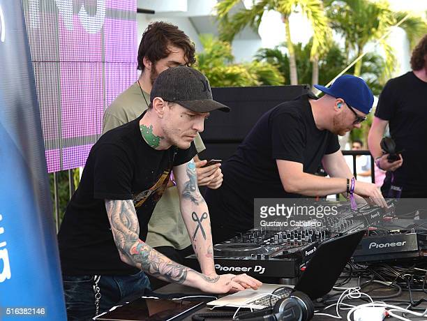 Prydz Deadmau5 and Oliver Heldens perform at SiriusXM's 'UMF Radio' Broadcast Live From The SiriusXM Music Lounge at 1 Hotel South Beach at 1 Hotel...
