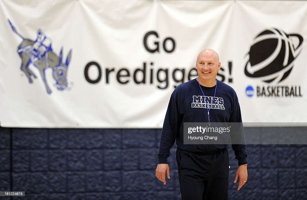 Pryor Orser head coach of Colorado School of Mines is in the team practice at Lockridge Arena in Golden Colo on Wednesday March 7 2012 Colorado Mines...