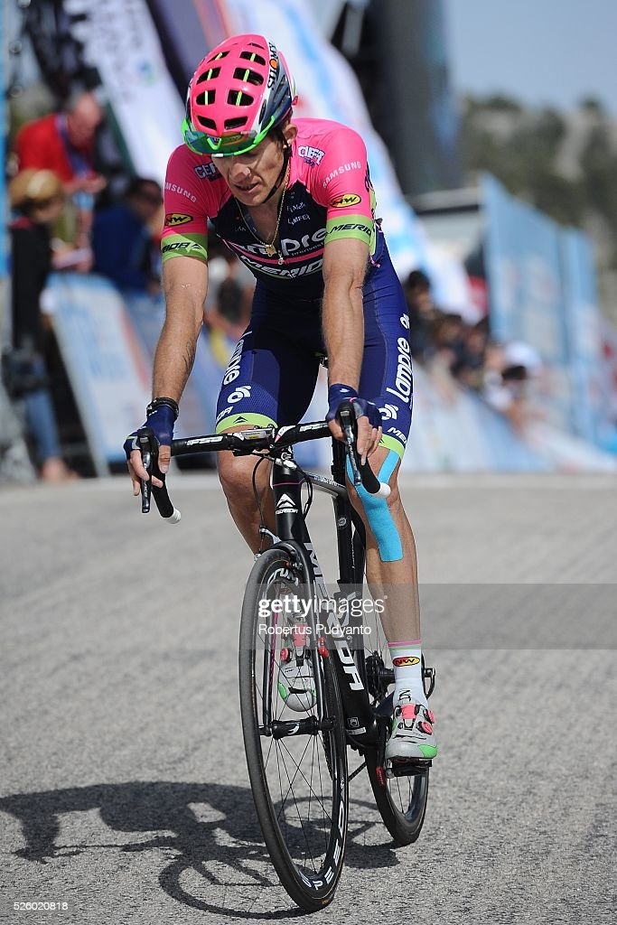 Przemyslaw Niemiec of Lampre-Merida reacts after taking runner-up position during Stage 6 of the 2016 Tour of Turkey, Kumluca to Elmali (117 km) on April 29, 2016 in Ankara, Turkey.