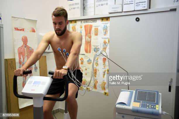 Przemyslaw Szyminski of US Citta' di Palermo looks on during medical tests on August 1 2017 in Palermo Italy