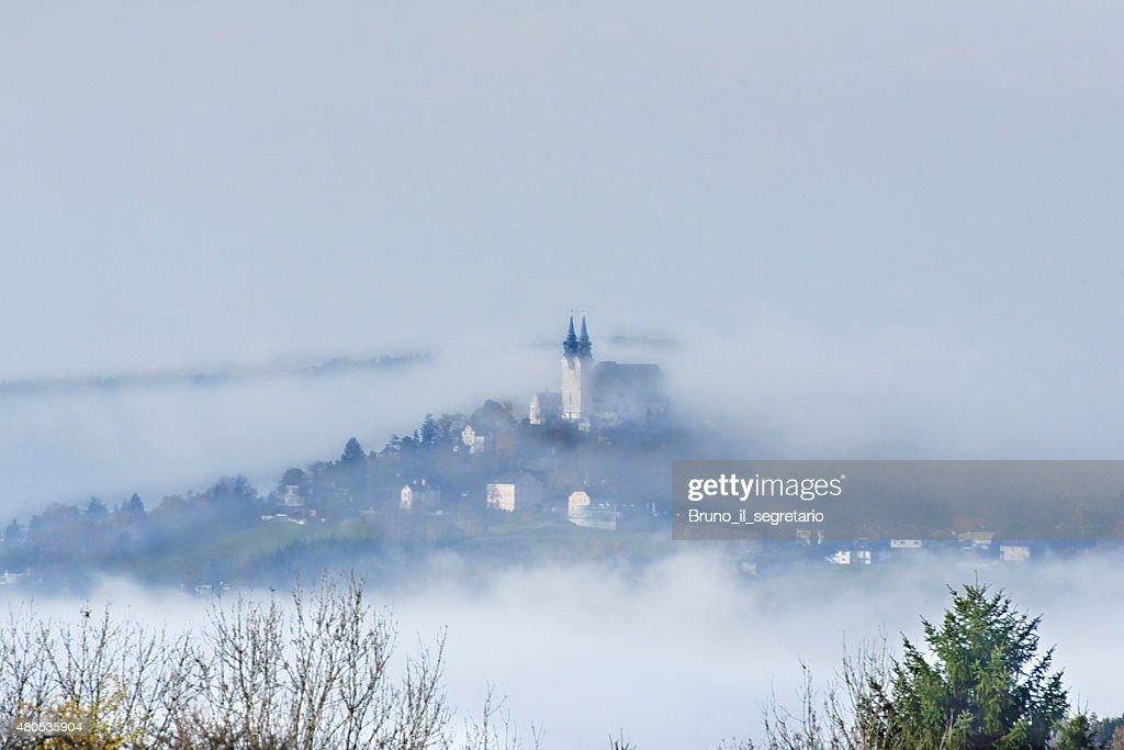 Pöstlingberg on a foggy day : Stock Photo