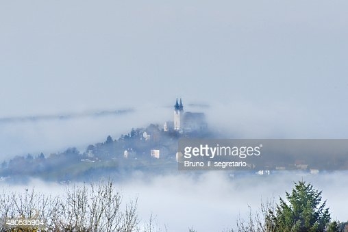 P?stlingberg on a foggy day : Stock Photo