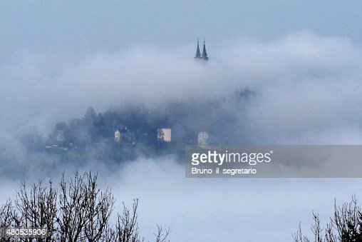 Pöstlingberg on a foggy day : Stock Photo