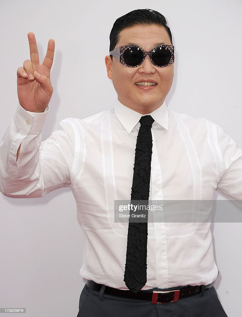 Psy arrives at the 'RED 2' - Los Angeles Premiere at Westwood Village on July 11, 2013 in Los Angeles, California.